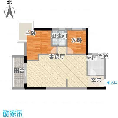 顺景蔷薇山庄四期73.20㎡第52栋3-27层0户型2室1厅1卫1厨