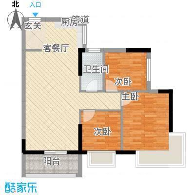 顺景蔷薇山庄四期8.30㎡第47栋3-22层0户型3室1厅1卫1厨
