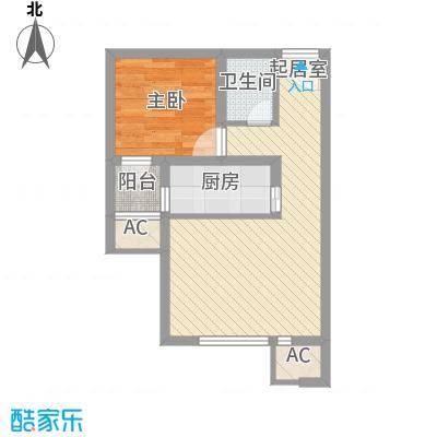 远洋海逸世家53.00㎡41#42#A5户型1室1厅1卫