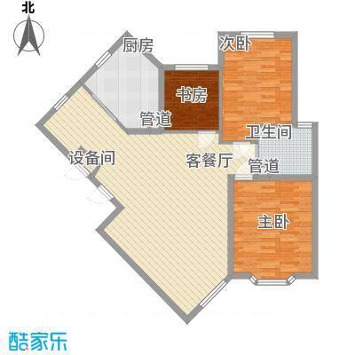 宏都筑景122.60㎡19#楼G户型3室1厅1卫1厨