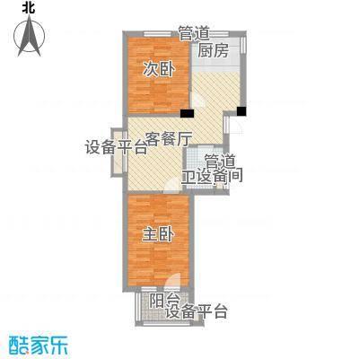 宏都筑景74.00㎡3#楼B户型2室1厅1卫1厨