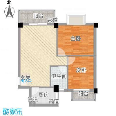 万景公寓A4户型2室2厅1卫1厨