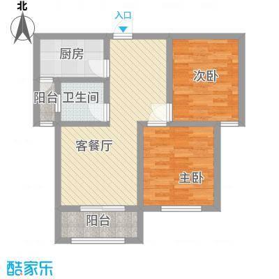 德霖臻和园一期高层1#楼D2户型