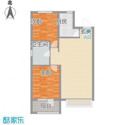 博辉万象城1.45㎡3#A户型2室1厅1卫1厨