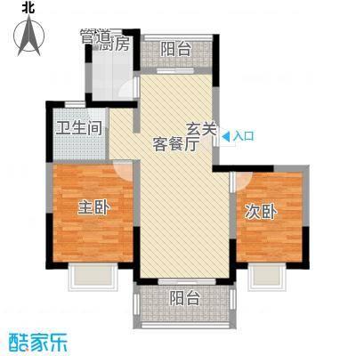 绿地泊林公馆高层33#边户A户型
