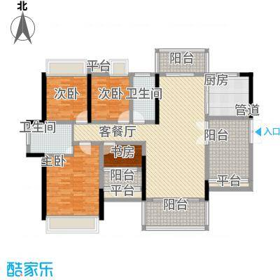 东江学府5期6栋4E户型