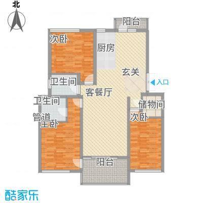 帝景传说126.62㎡C12标准层户型4室2厅2卫1厨