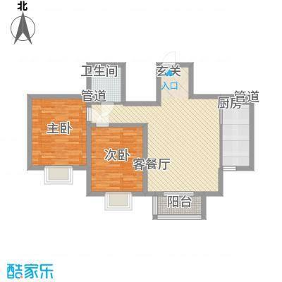北京御园B14两居户型