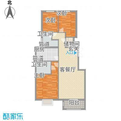 北京御园C5三居户型