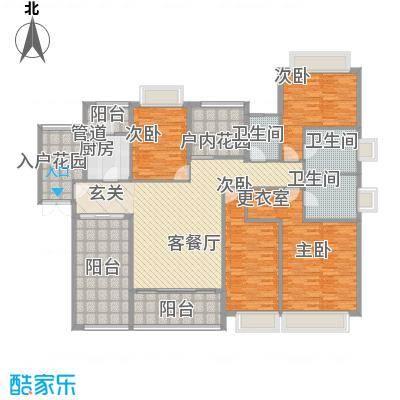 世纪城国际公馆香榭里A面户型