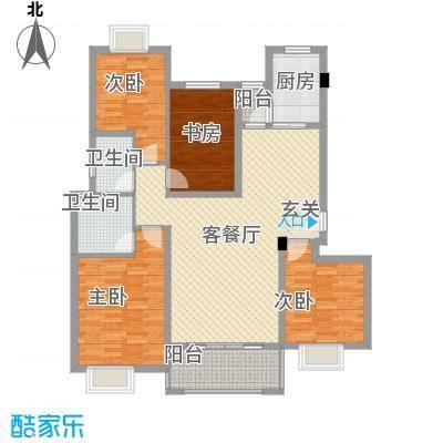 大云雅苑141.70㎡C1幢标准层01单元户型4室2厅2卫1厨