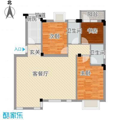 华新苑115.00㎡户型3室