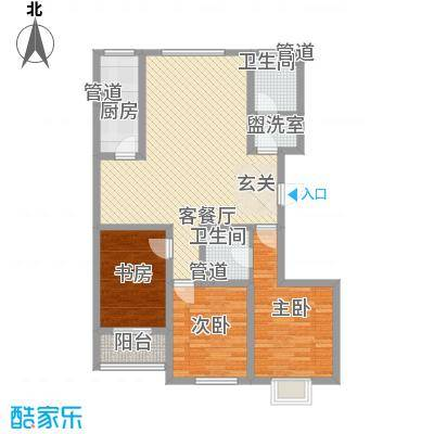 春景花园131.00㎡一期高层C户型3室2厅1卫1厨
