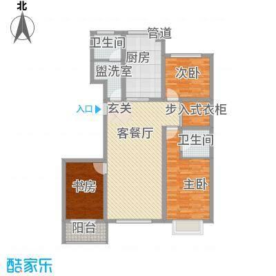 春景花园136.10㎡一期高层D户型3室2厅1卫1厨