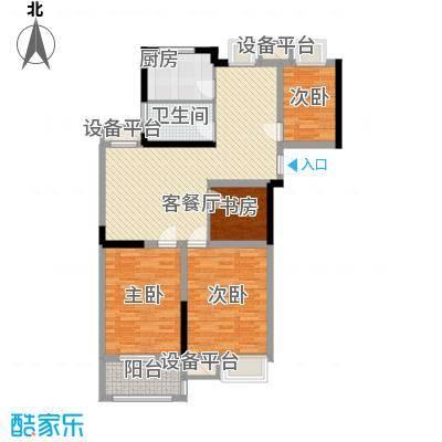 金都华府115.61㎡一期5-10号楼标准层I户型4室2厅1卫1厨