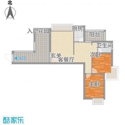 海滨花园2.77㎡2栋标准层A户型2室2厅1卫1厨