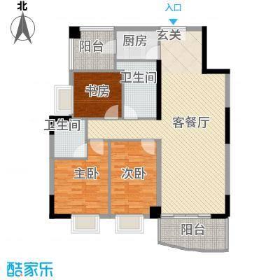 银城花园11幢04户型3室2厅2卫1厨
