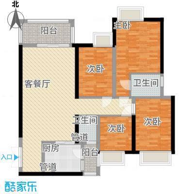 金阳新世界花园135.31㎡珑�五期P户型4室2厅2卫1厨