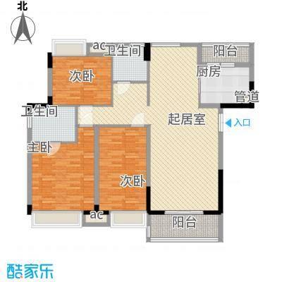 万林湖别墅14.67㎡和院三组团J区D2户型3室2厅2卫1厨