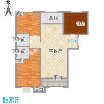 金宇・新天地133.00㎡F户型3室2厅2卫