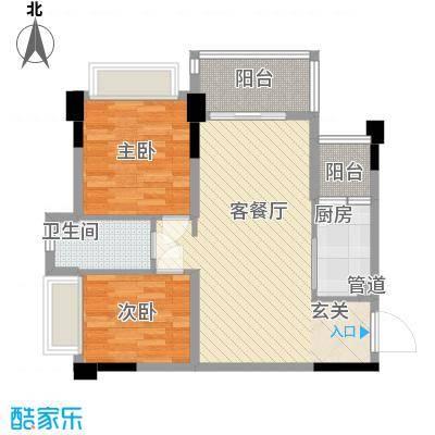 正德天水湖78.25㎡6栋03户型2室2厅1卫