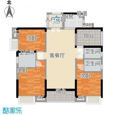 美的・时代城116.00㎡7栋02户型4室2厅3卫1厨