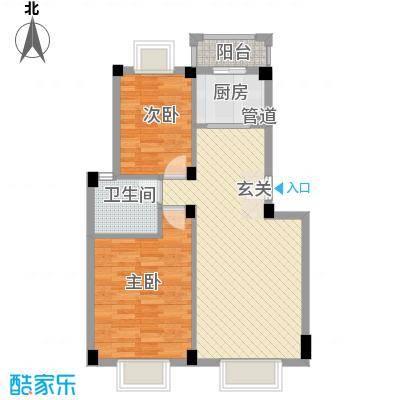 东方新城75.00㎡6、7、8、13、14、15、20、21、22#楼J1户型2室2厅1卫1厨