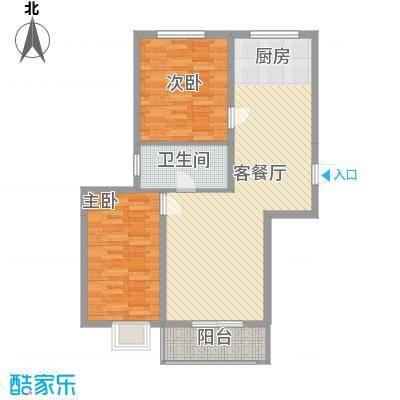 BOBO悠乐城6.40㎡C2户型2室2厅1卫
