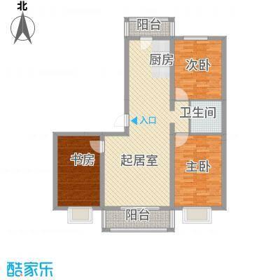 BOBO悠乐城1.40㎡D户型3室2厅1卫