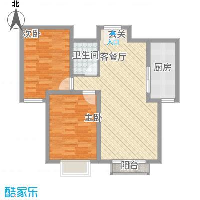 金澜湾J户型3室2厅1卫