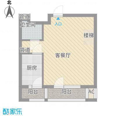 金海湾户型2室