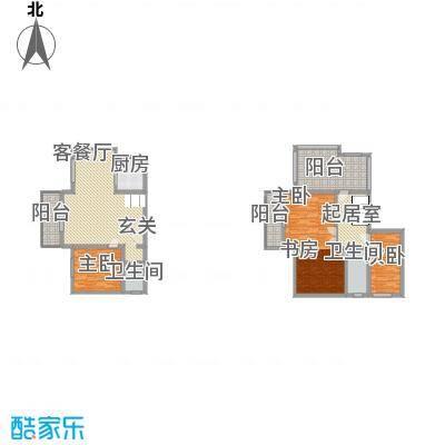帝景传说151.30㎡A1栋跃层户型4室2厅1卫1厨
