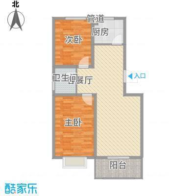 东润国际新城84.38㎡25号楼02户型2室2厅1卫1厨