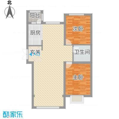 宏润翠湖天地38号楼F户型