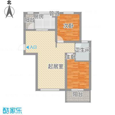 泰安盛世88.00㎡高层标准层P户型2室2厅1卫