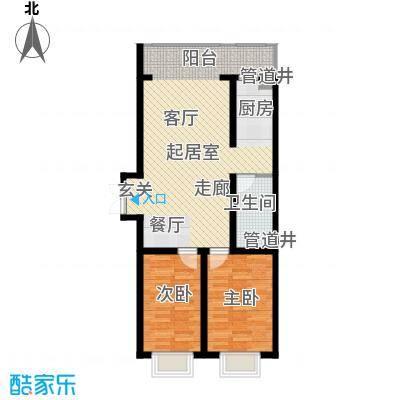松浦观江国际64.80㎡N户型2室2厅1卫1厨