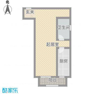 富强城一期201#楼5-15层B1a户型
