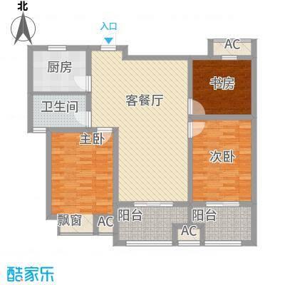 凯悦中心9#标准层B圆梦居户型
