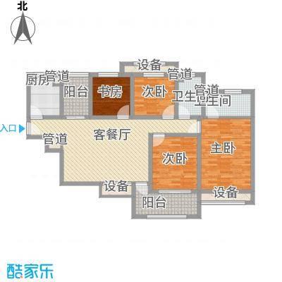 龙湖滟澜山141.00㎡滟澜时光空中别墅瞰湖D3户型3室2厅2卫