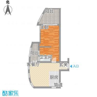 中航元屿海75.00㎡B1栋01户型1室1厅1卫1厨