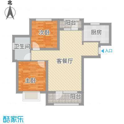 香邑溪谷88.14㎡A3户型2室2厅1卫1厨