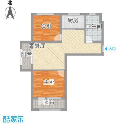 香邑溪谷82.44㎡A1户型2室2厅1卫1厨