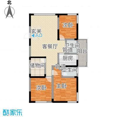 春江花园138.56㎡2、4#A1户型3室2厅2卫1厨