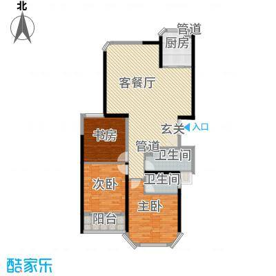 中科蓝湾国际153.00㎡C户型3室2厅2卫1厨