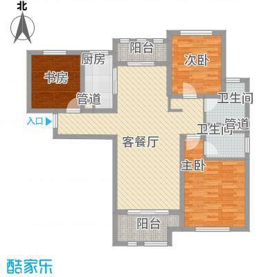 德仁・翡翠城124.60㎡C7户型3室2厅2卫1厨