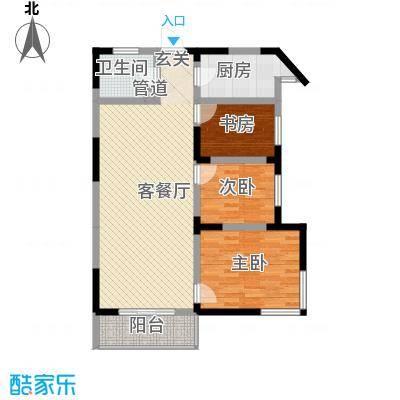 春江花园16.20㎡2、4#楼高层C户型3室2厅1卫1厨