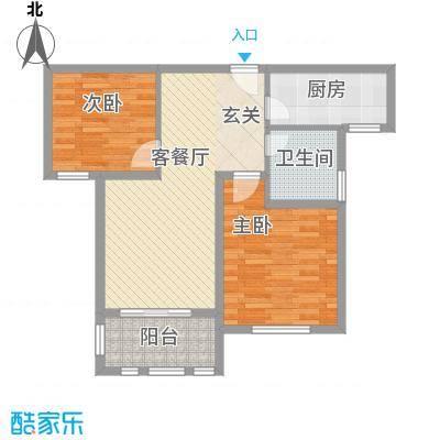 德仁・翡翠城87.10㎡C2户型2室2厅1卫1厨