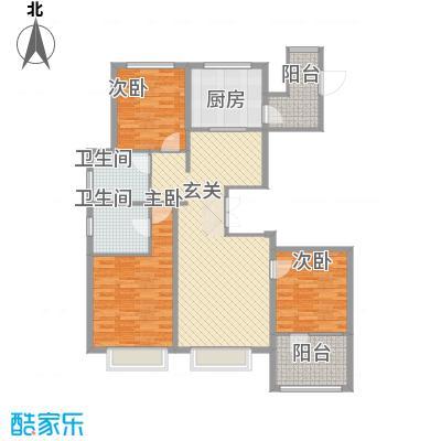 博辉万象城137.32㎡4#D户型3室2厅2卫1厨