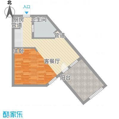 恒泰时间海54.88㎡5号、6号楼D1户型1室1卫