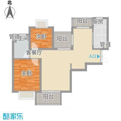 汇泰锦城2.00㎡户型3室2厅1卫1厨
